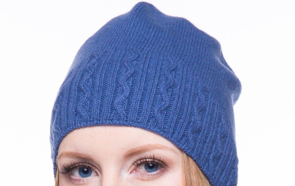 zimowa czapka kaszmirowa